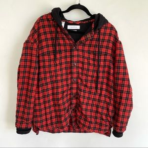 Urban Outfitters Heavy Flannel Jacket with Hood